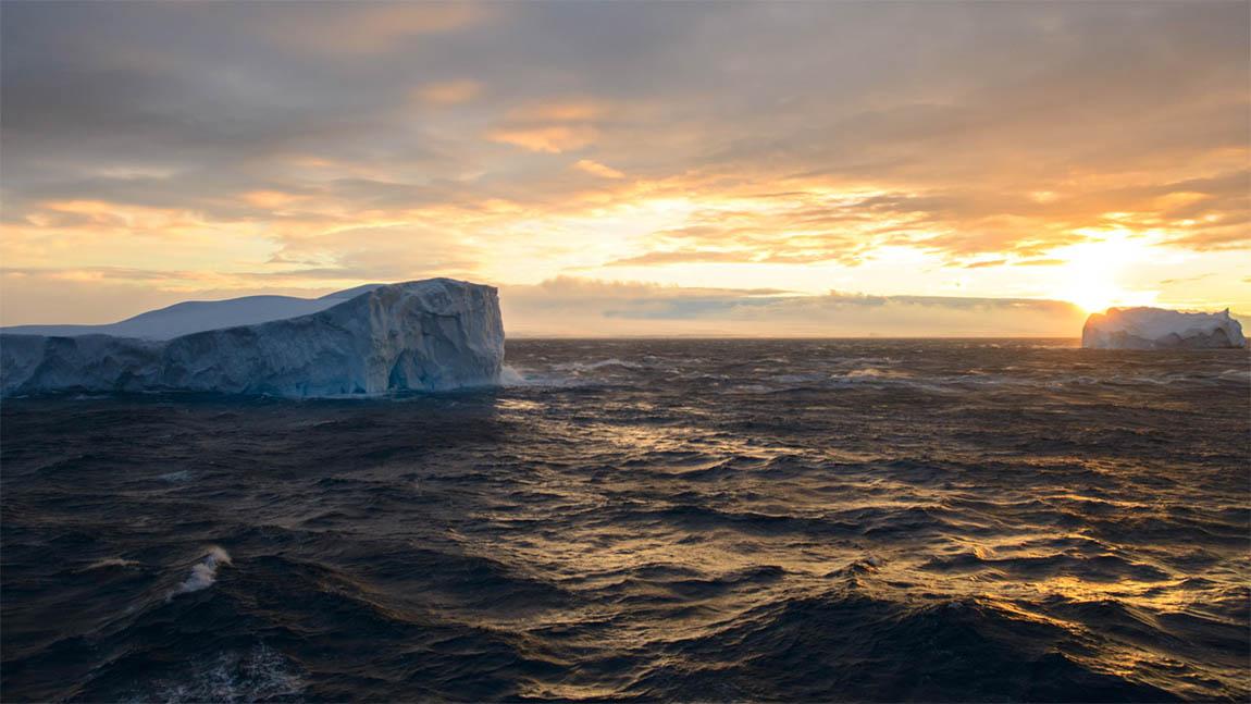 Oceaan bij Schiereiland van de Zuidpool